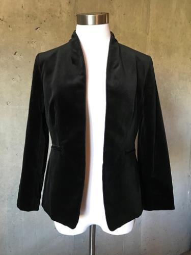 b9c366bfbf72c NEW JCrew $168 Petite Going Out Blazer in Velvet Size 8P Black H7423 evening