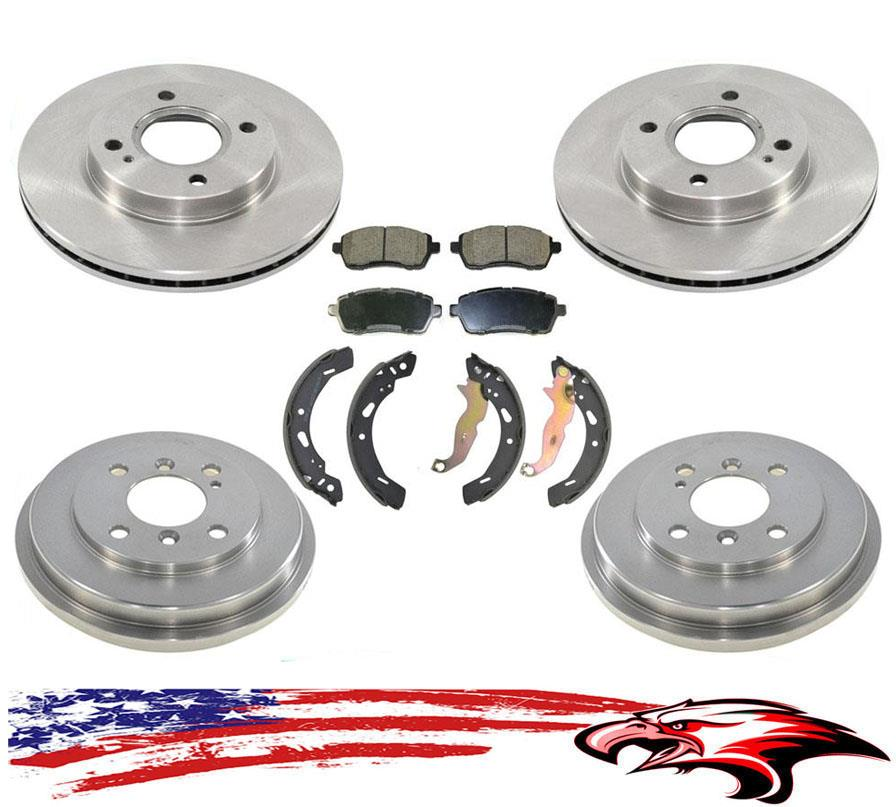 2014 2015 For Ford Fiesta Front Disc Brake Rotors and Pads Model w//R-Drums