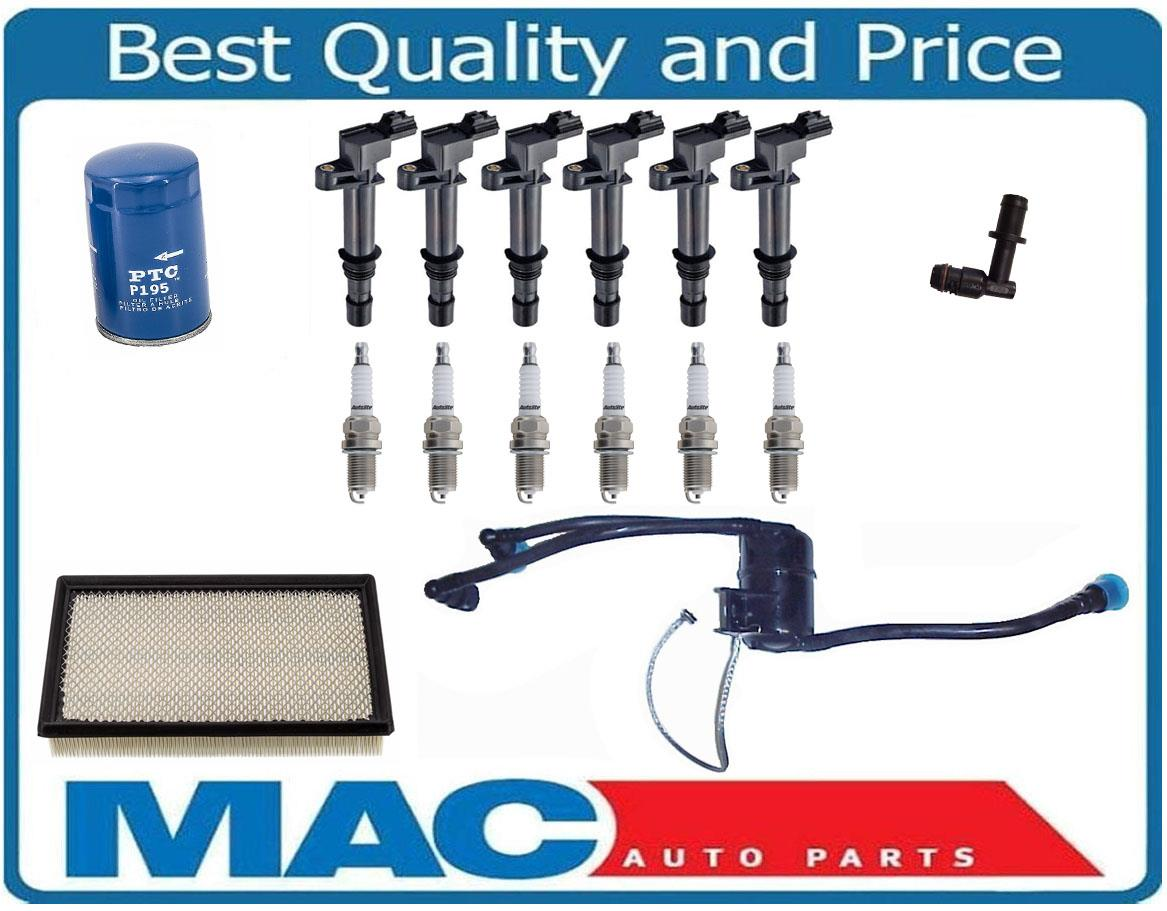 8USAUTO Tune Up Kit Air Oil Filters Spark Plug FIT Jeep Liberty V6; 3.7L 2005-2007