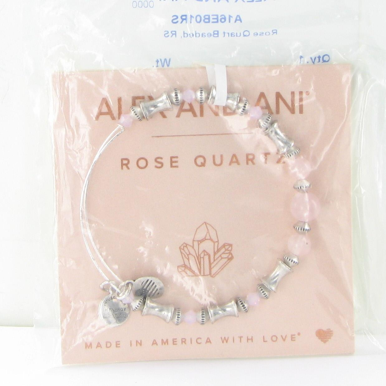 73ed6720cea49 Alex and Ani Rose Quartz Beaded Bracelet A16EB01RS Rafaelian Silver ...
