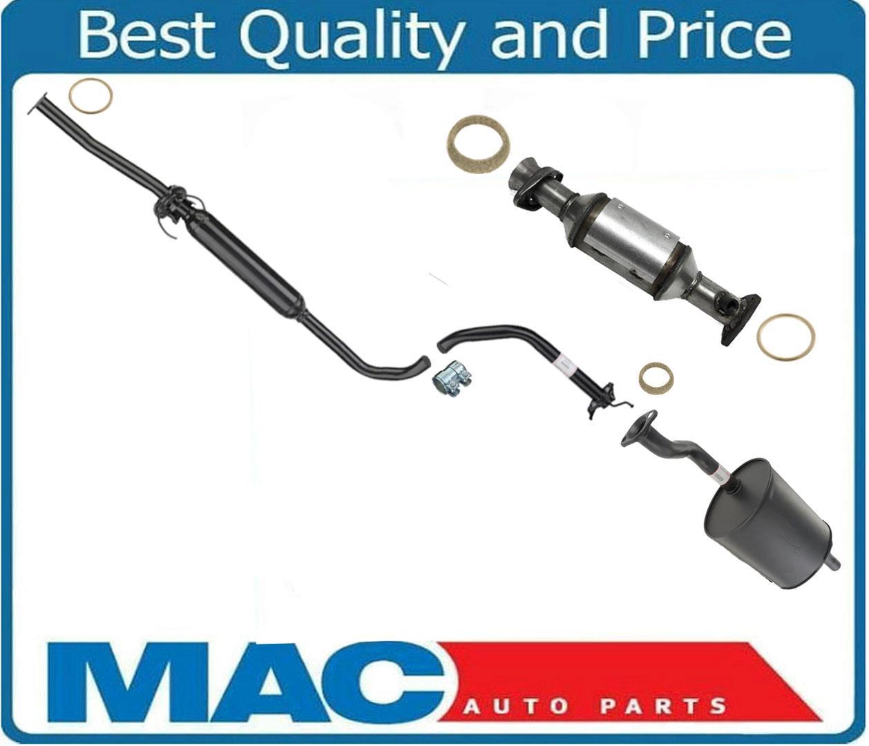 Rear Converter Resonator & Muffler For 96-01 Acura Integra