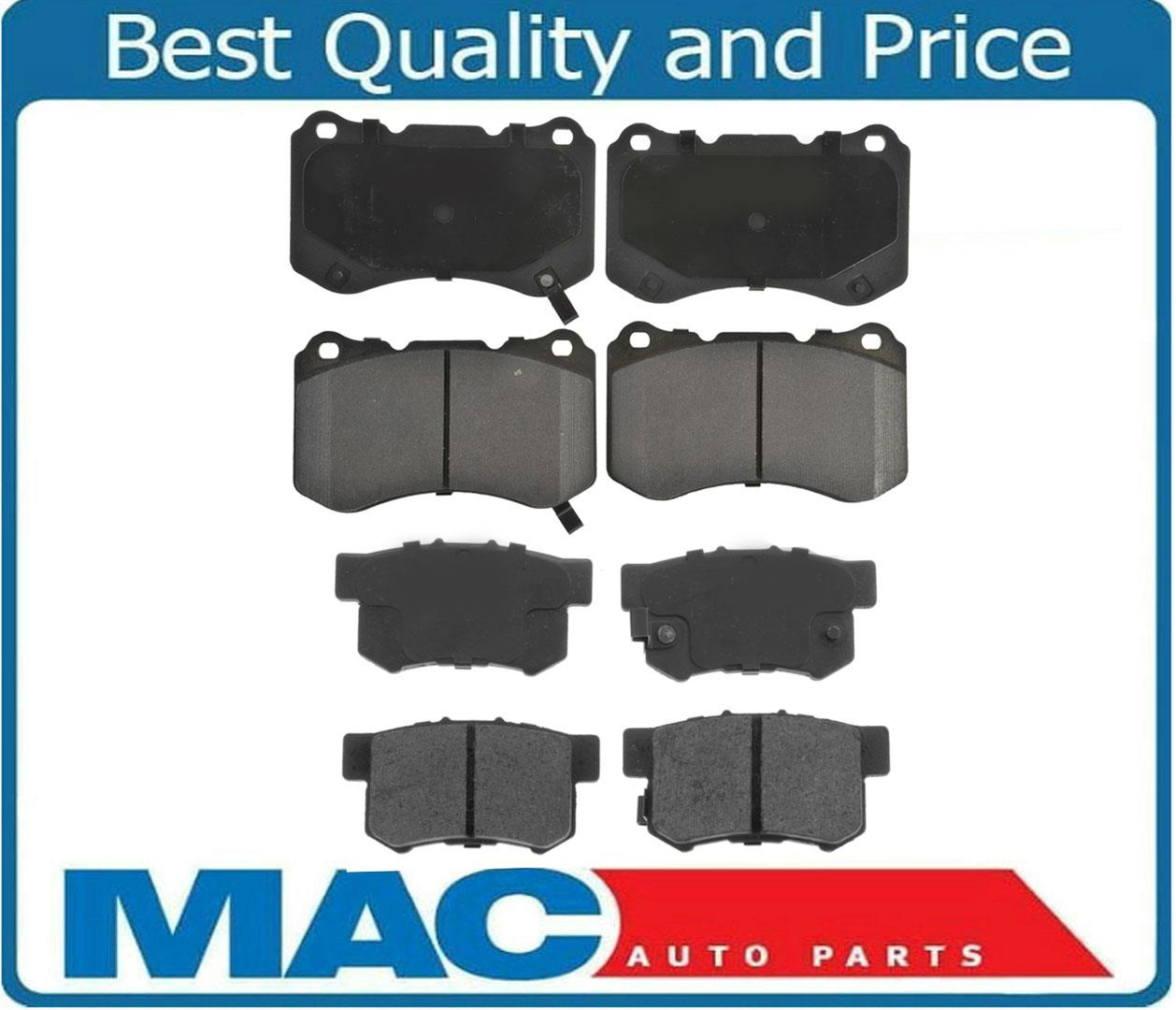 Front & Rear Brake Pads For 04-08 Acura TL & TL Type S