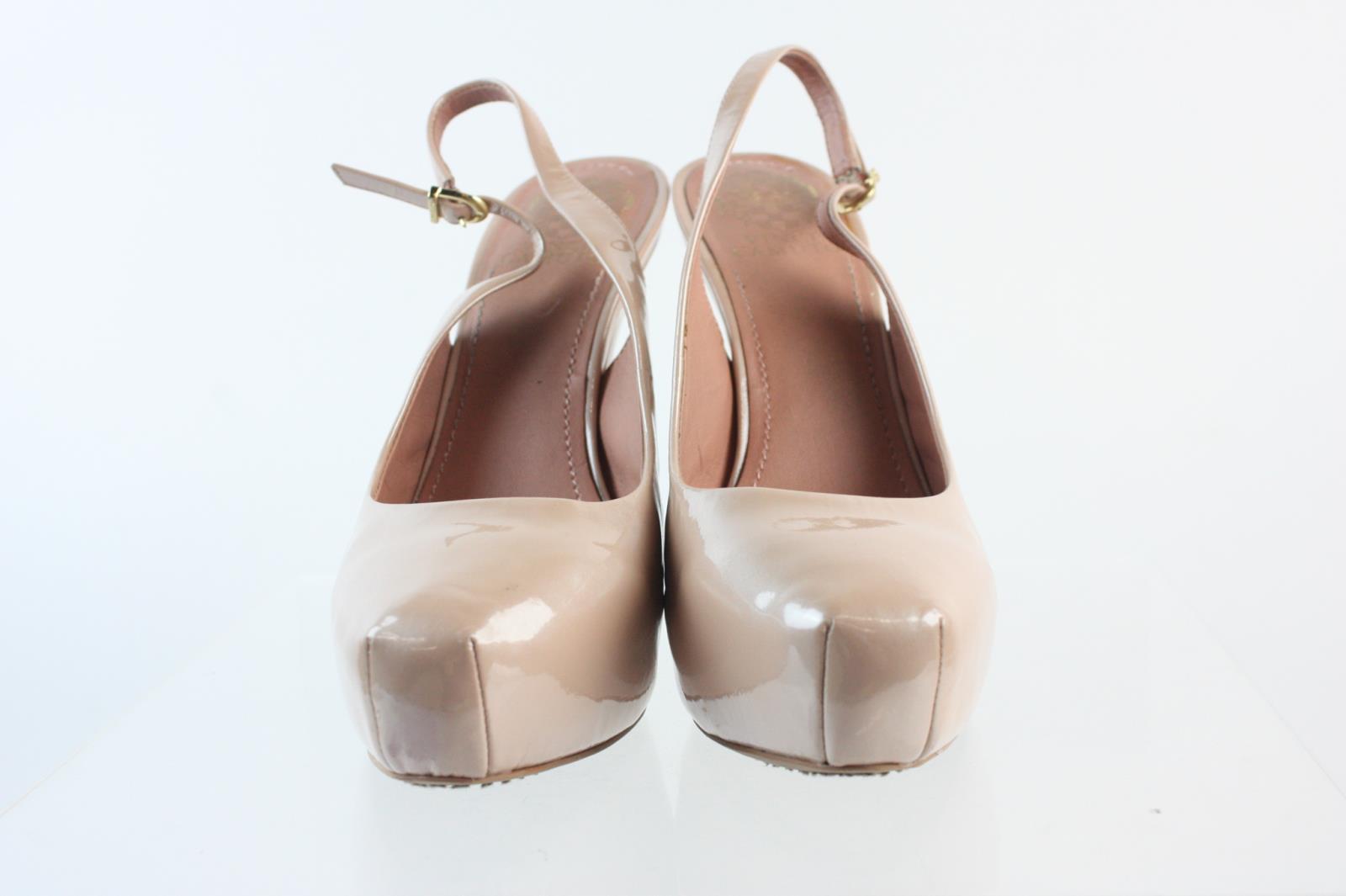95db006d535 Vince Camuto Rose Gold Patent Leather Platform High Heel Ankle Strap Pumps  Sz 9