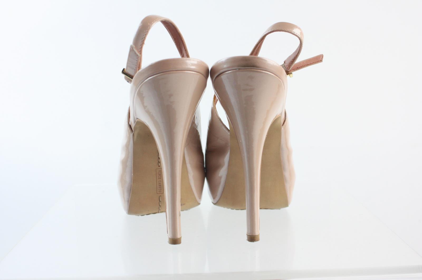 9bcbdd57508 Vince Camuto Rose Gold Patent Leather Platform High Heel Ankle Strap ...
