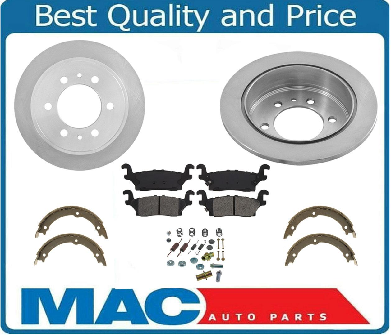 Details about Fits 8-8 Hummer H8 & H8T Rear Brake Rotors & Pads Emergency  Shoes Springs 8Pc | hummer h3 brake pads