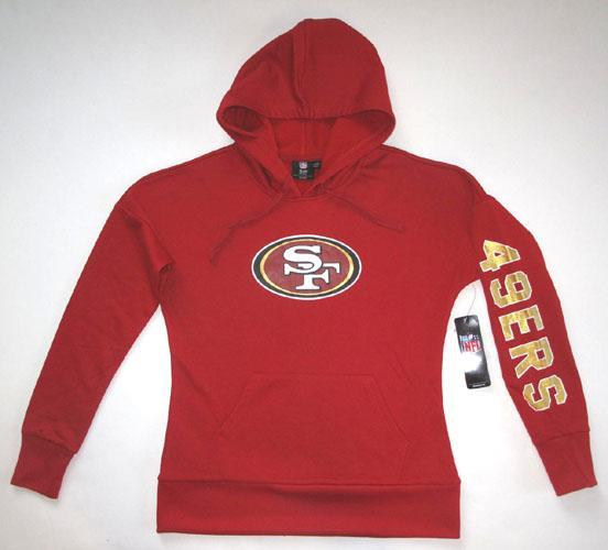6abba033 Details about G-III San Francisco 49ers Women's Red Pullover Hoodie Large
