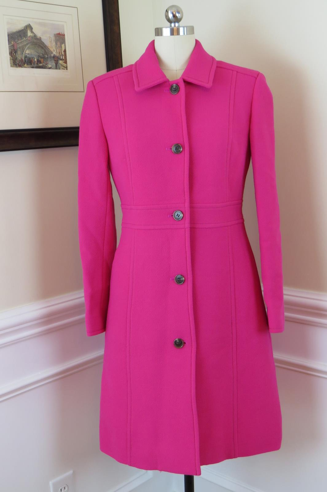 Jcrew Double Cloth Lady Day Coat Thinsulate 49622 378 Fuchsia Pink