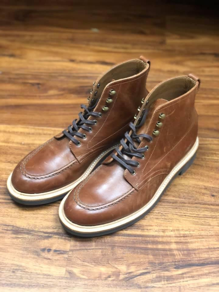 9e426b807ef J CREW Mens Kenton Leather Pacer boots 7.5 burnished tobacco brown ...