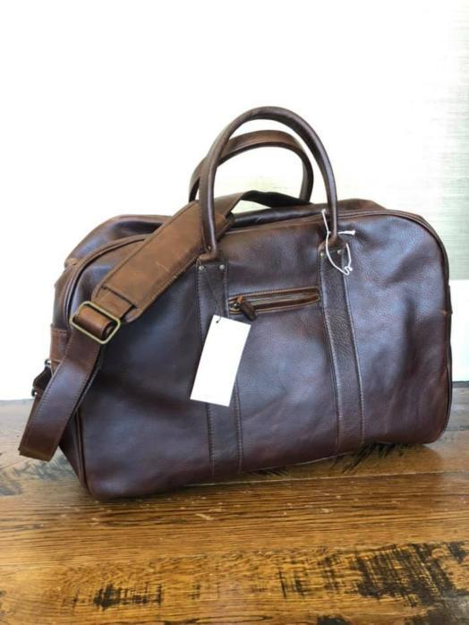 7b291129bc5c New Moore & and Giles Taylor Leather Duffel Bag Titan Milled Brown ...