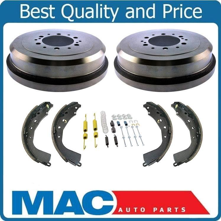 New Rear Brake Drums /& New Shoes For 03-08 Vibe /& Matrix Front Wheel Drive ONLY