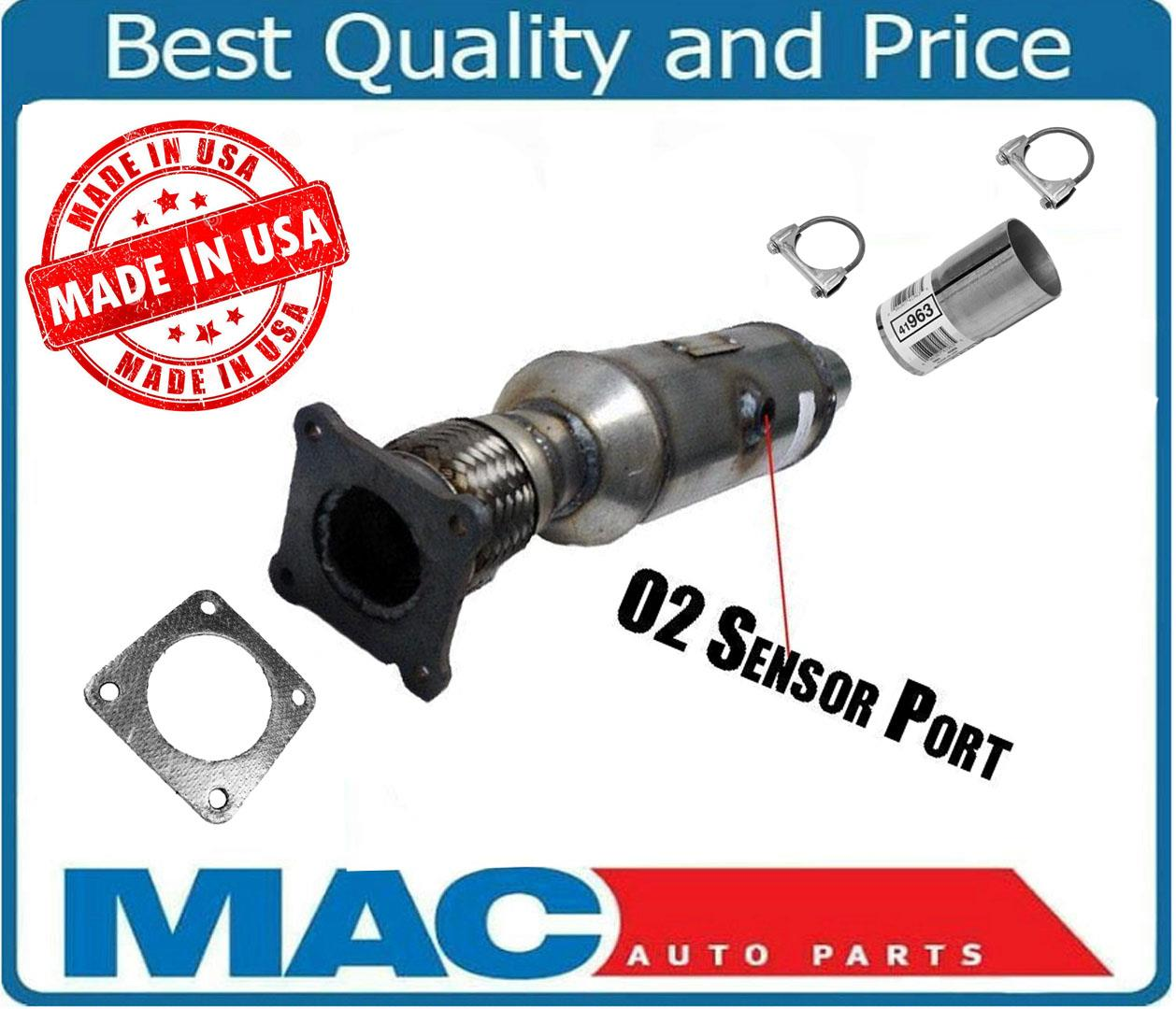 EPA Compliant 2.5 Inlet//Outlet Catalytic Converters w//O2 Nut Universal Fit Stainless Steel High Flow CAT