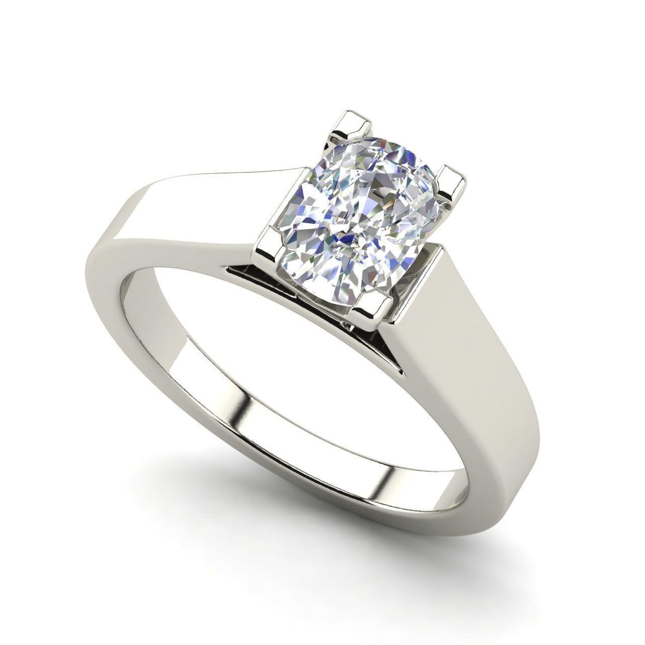 Details About Cathedral 3 Carat Vs1 H Oval Cut Diamond Engagement Ring White Gold