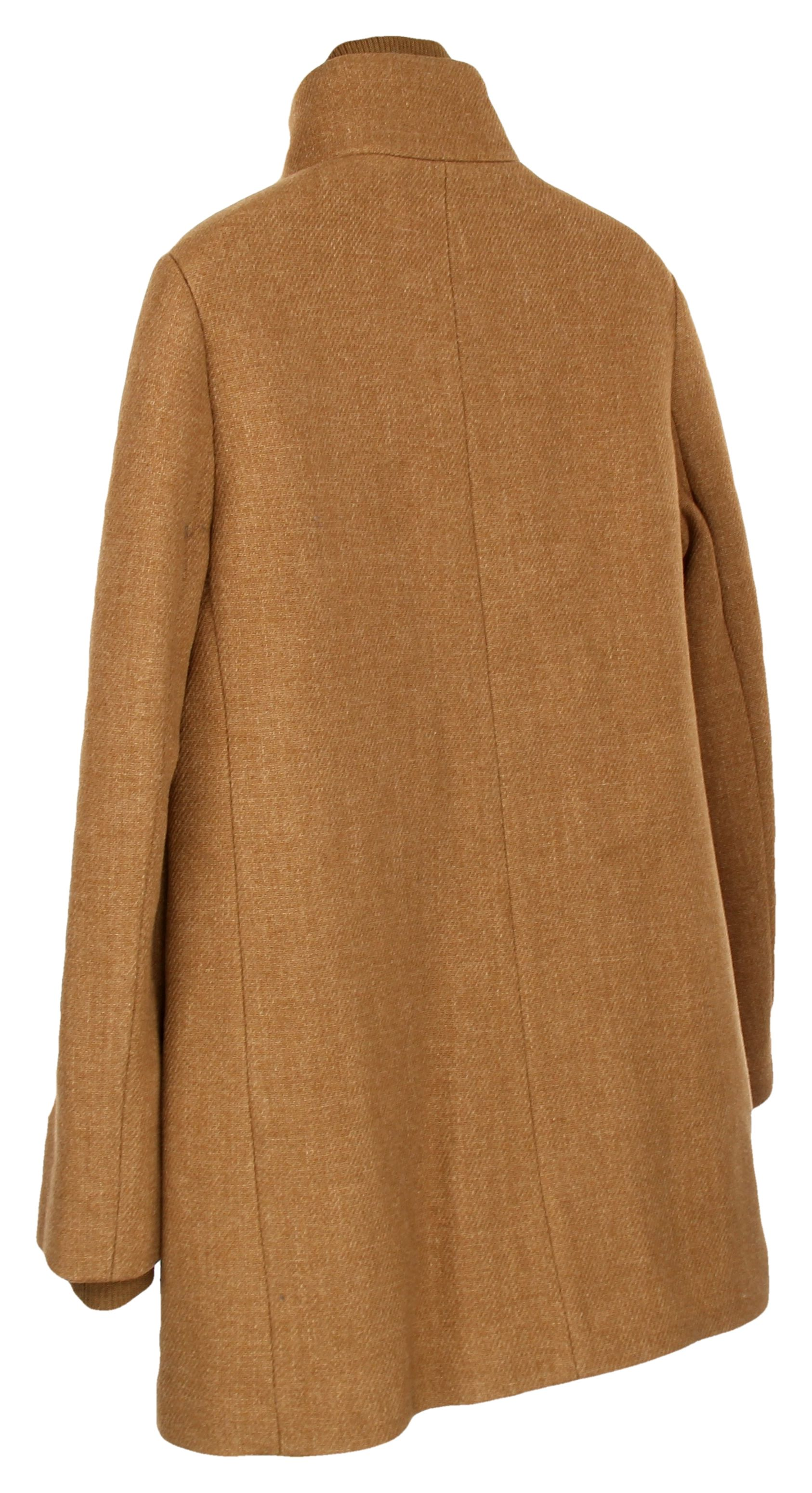 J Crew Womens Lodge Coat Italian Stadium-Cloth Wool Coat Heather Acorn 14 K0896