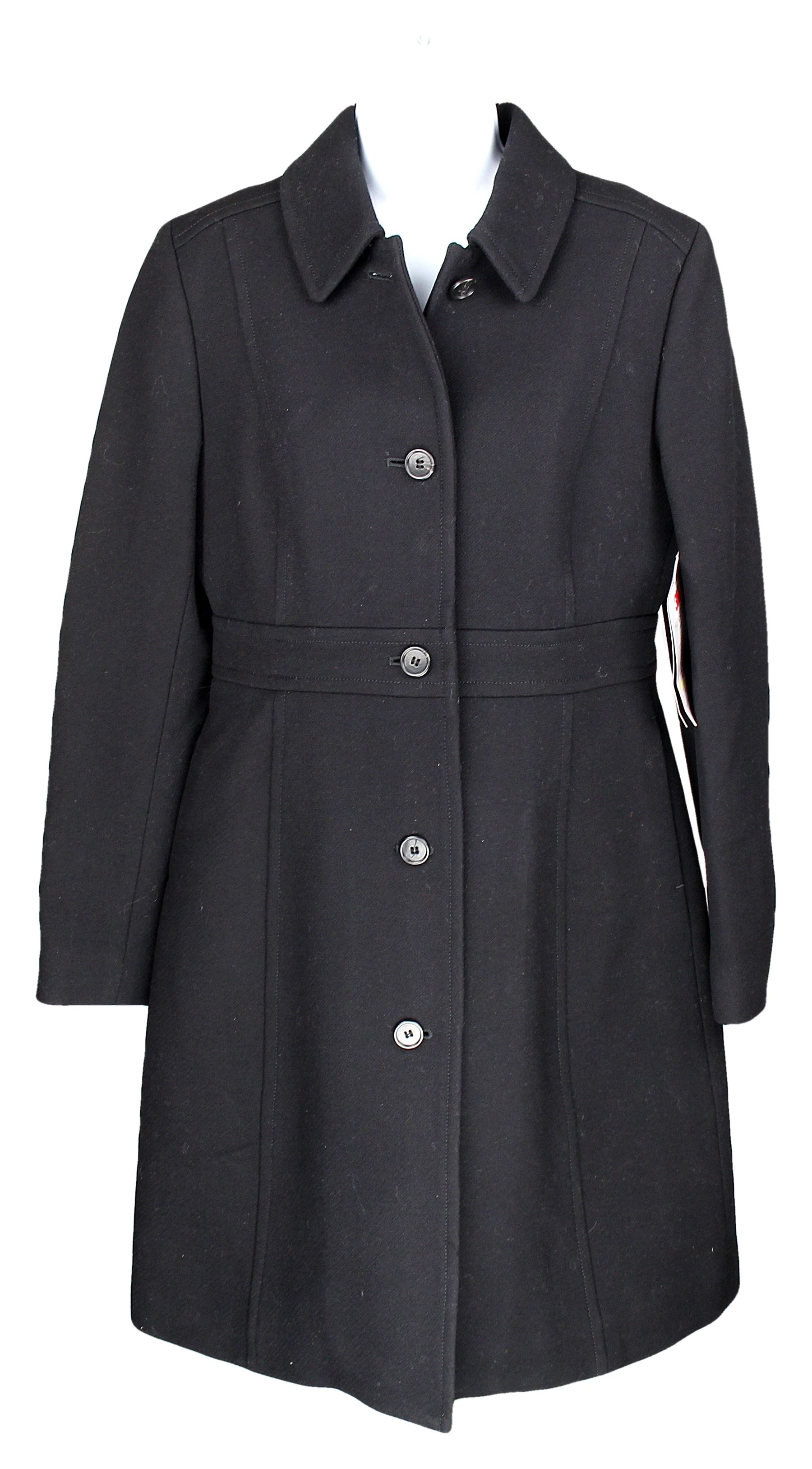 70482ea9f Details about J Crew Womens Double Cloth Lady Day Coat Wool Thinsulate Long  Coat Black 8 49622
