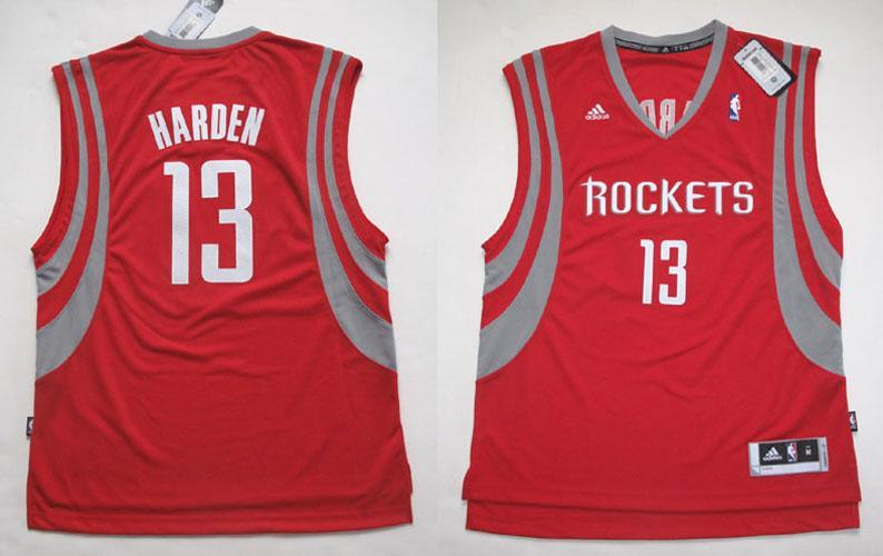 low priced ac25a 0fe86 Details about ADIDAS HOUSTON ROCKETS JAMES HARDEN SWINGMAN RED RD JERSEY XL