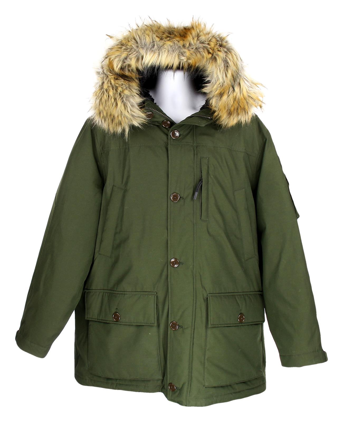 elegant shoes good out x quite nice J Crew Mens Nordic Down Parka Puffer Coat Winter Jacket Faux Fur ...