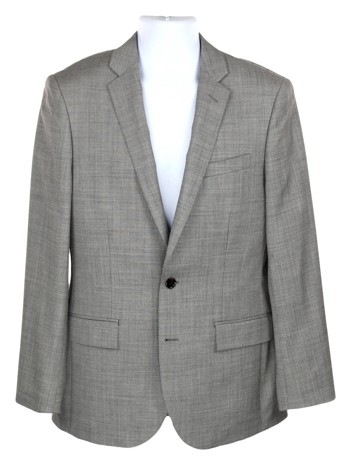 J CREW 38S Ludlow Slim Suit Jacket Italian Worsted Wool Mineral Grey G1109