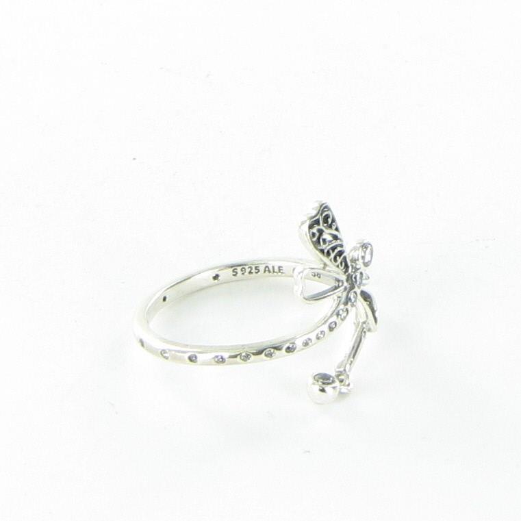 2b62781f3 Pandora Dreamy Dragonfly Clear CZ Ring Sterling Silver 197093CZ-58 ...