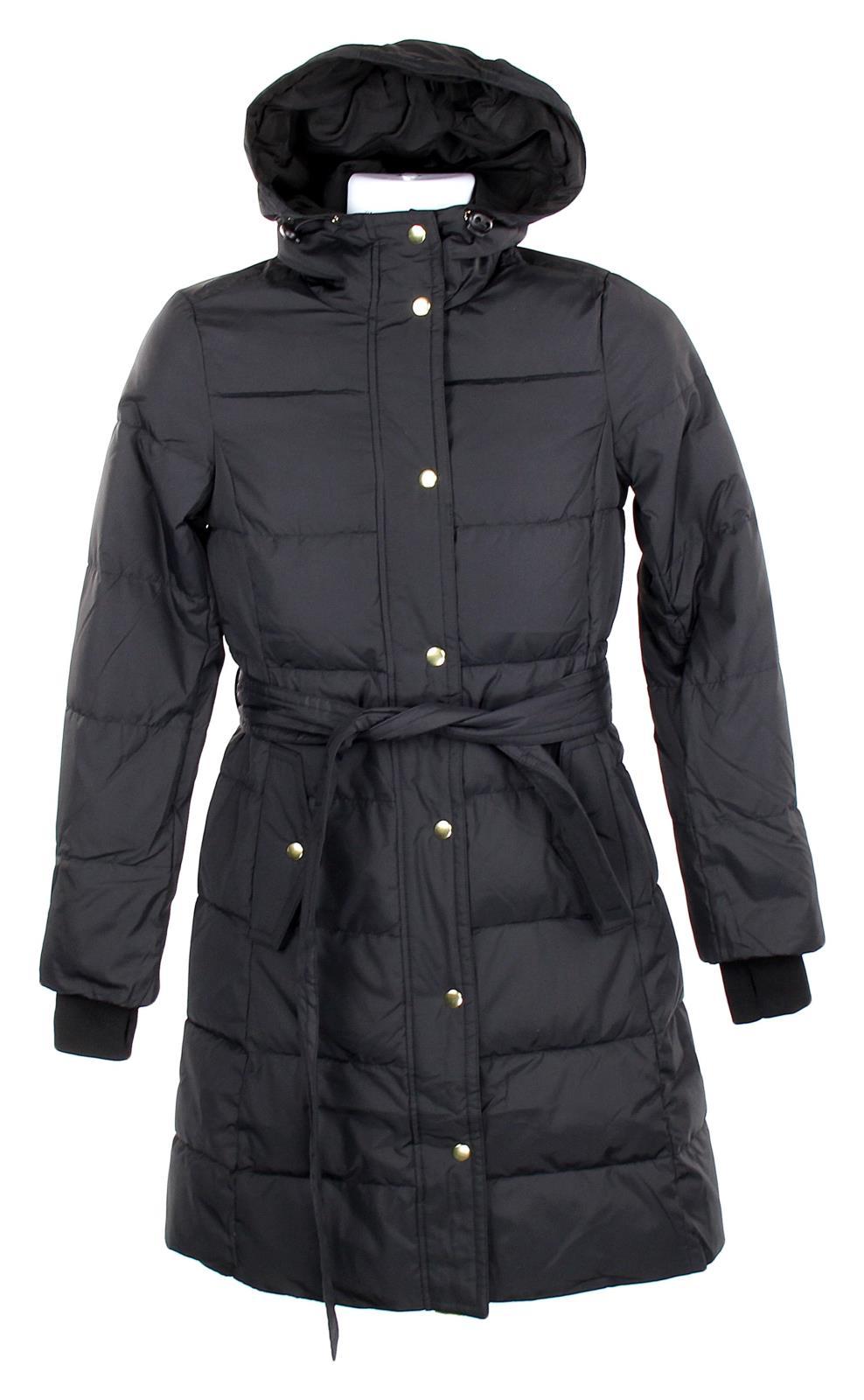6ced690eb Details about J Crew Mercantile Women's Tie-Waist Puffer Coat Black Winter  Coat XXS K4208