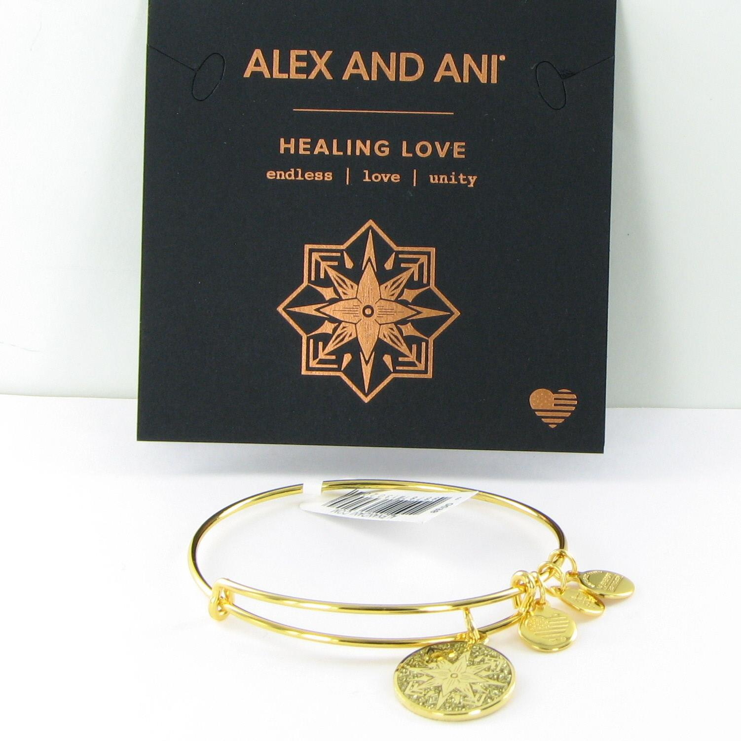 602506a22 Details about Alex and Ani Healing Love Color Infusion Bracelet A17EBHLSG  Shiny Gold NWT