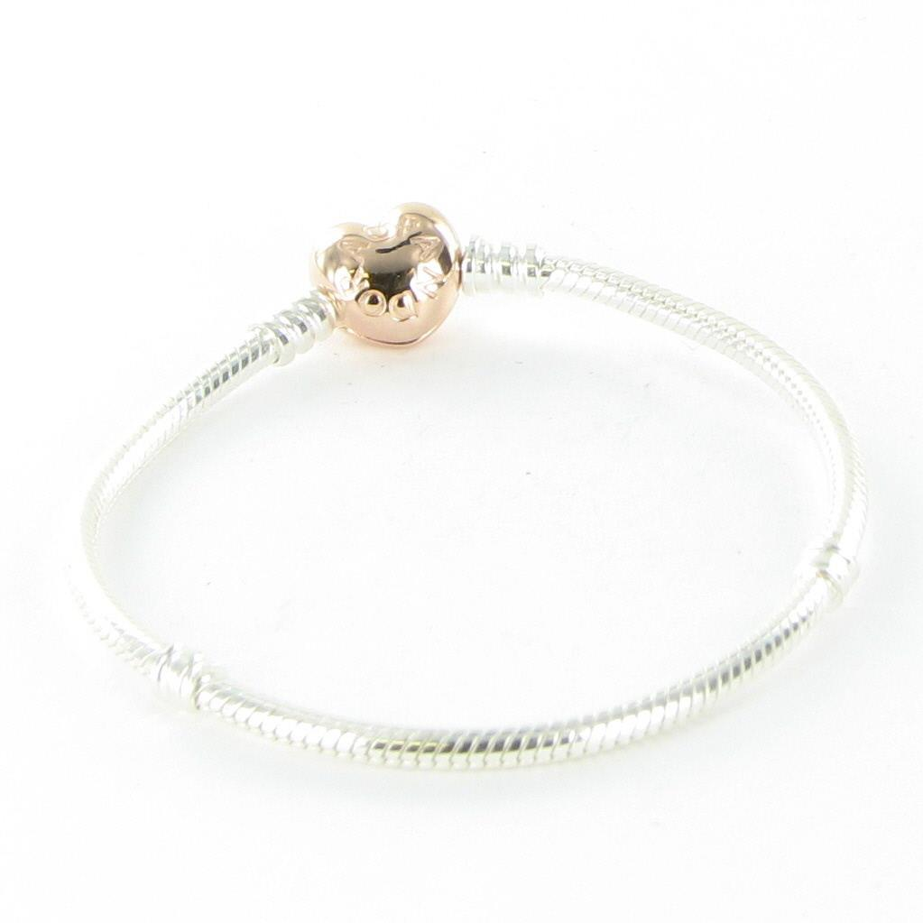 7bed6b3ad Details about Pandora Rose Heart Lock 7.5