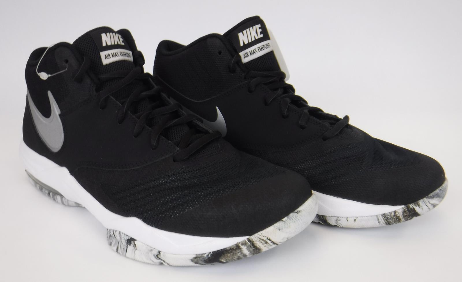 5e498687b8526 Details about New Nike Men s Air Max Emergent US Size 9 Black   Silver    White 818954-001