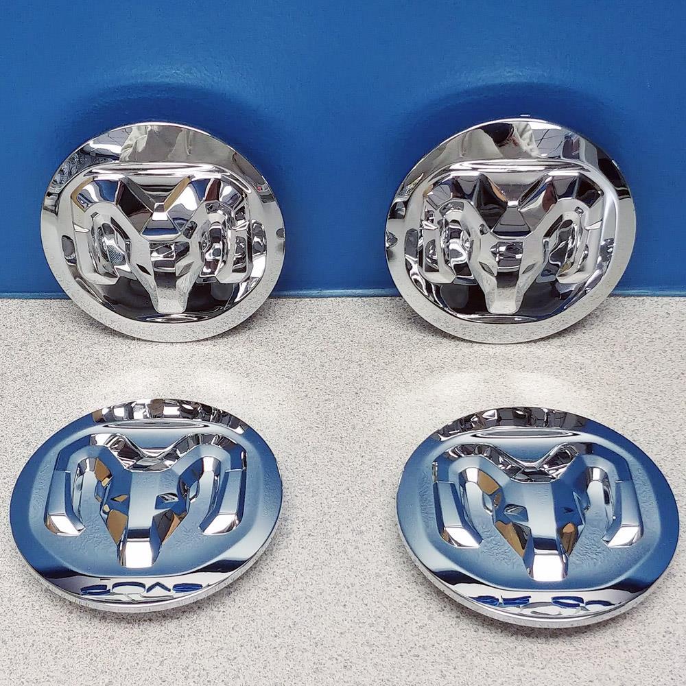 "3500 3 13//16/"" Black Button Wheel Center Caps # 1SK35TRMAA USED SET//4 Ram 2500"