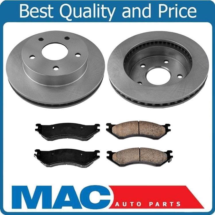 Front Brake Rotors /& Ceramic Brake Pads for 09-17 Dodge Ram Pick Up 2500 35