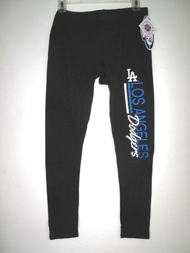LOS ANGELES DODGERS CONCEPTS SPORT WOMEN/'S BLACK CROPPED LEGGINGS XL