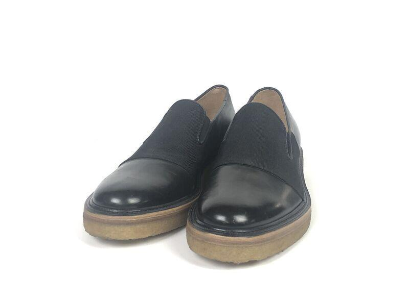 Leather flats Dries Van Noten Black size 37 EU in Leather