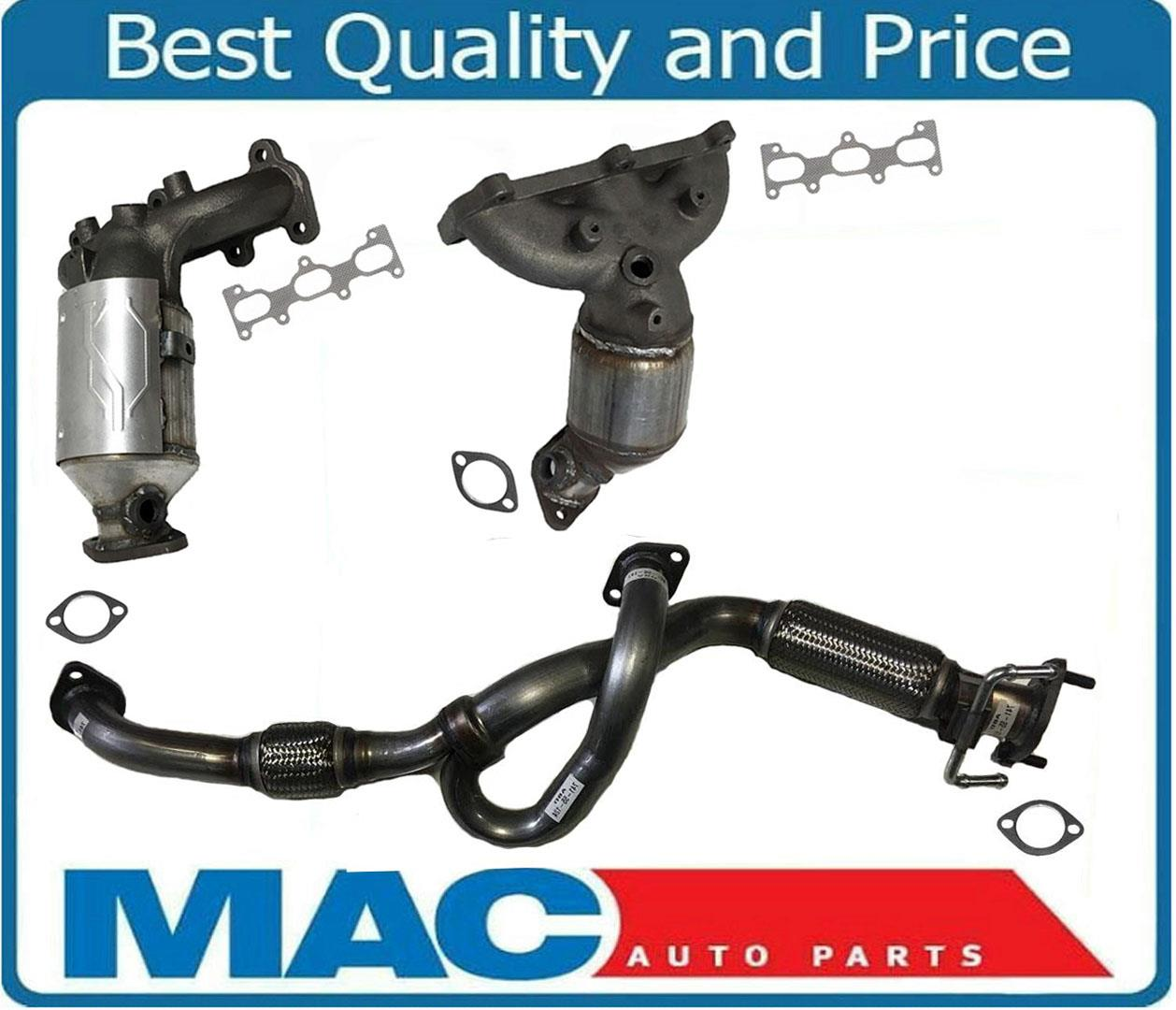 2 Front /& Rear Manifold Catalytic Converter for 2.7L 07-09 Santa Fe 2.7 ONLY