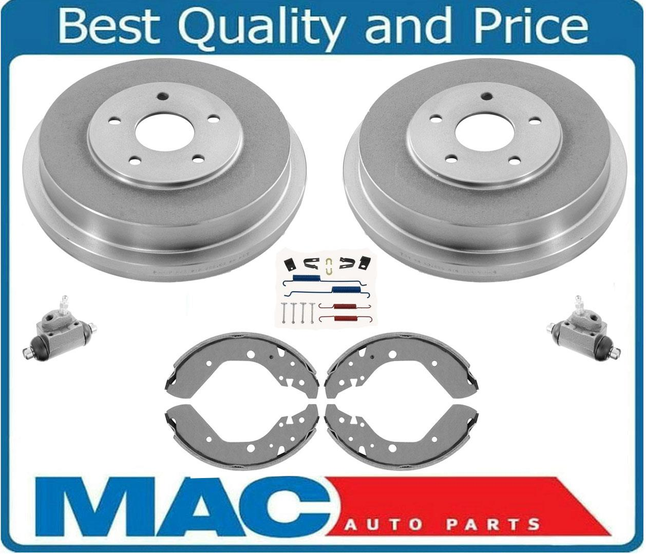 Rear Brake Drums and Shoes /& Brake Springs 2 Fits For 2000-2005 Echo