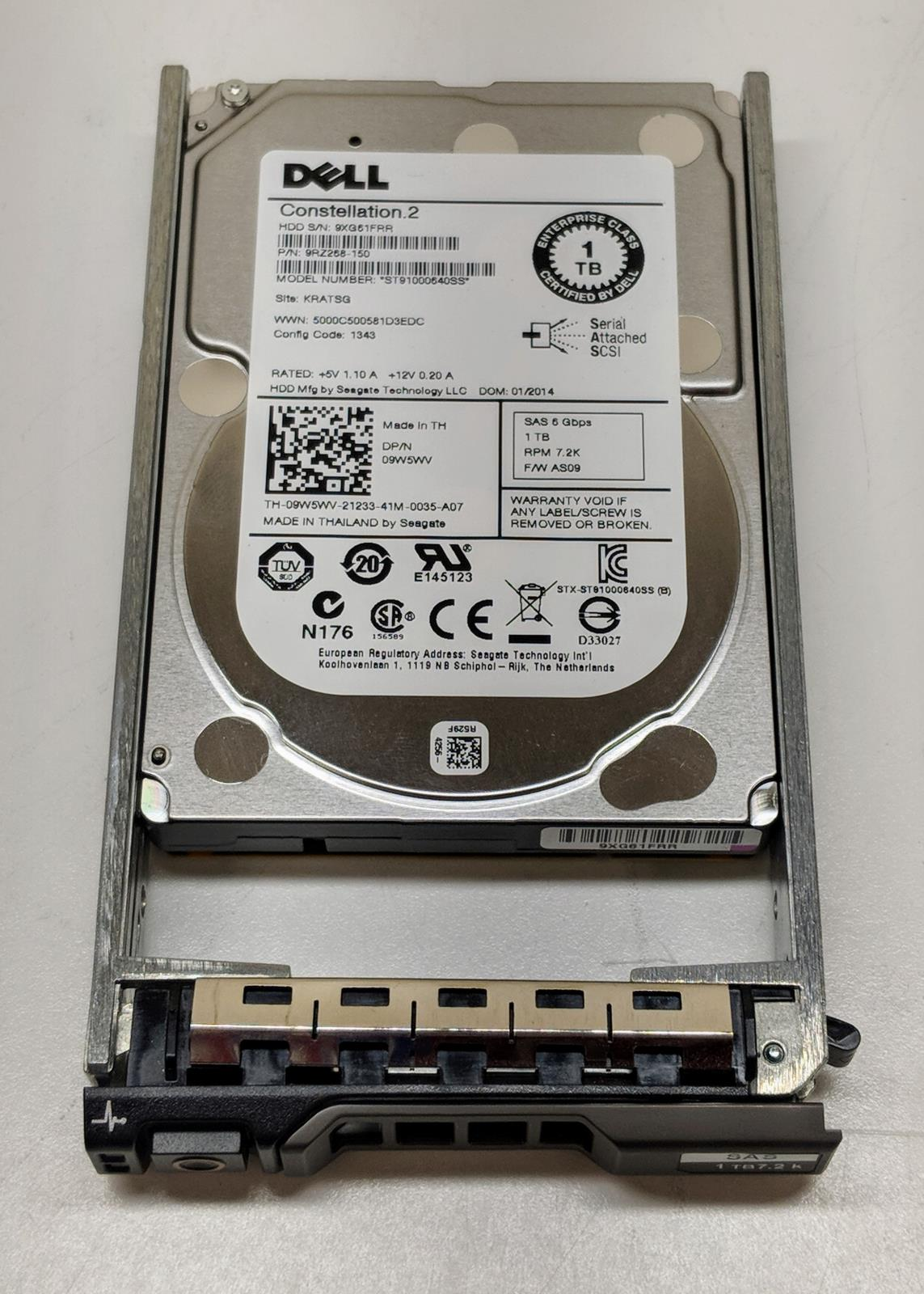 "Seagate Constellation.2 1TB ST91000640SS 6G SAS 7.2K 2.5/"" Dell PowerEdge Server"