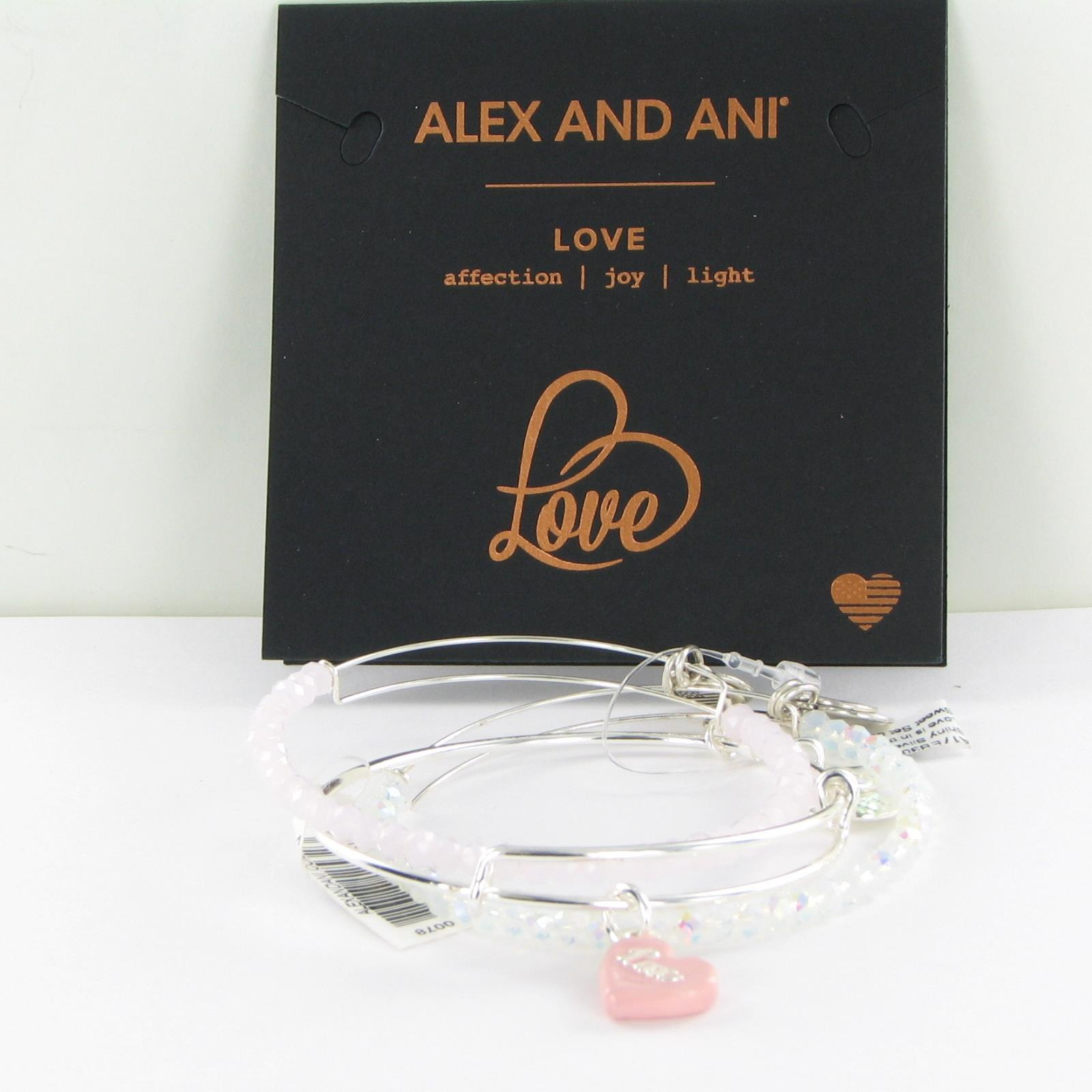 Details About Alex And Ani Sweet Set Of 3 Expandable Beaded Bracelets A17eb30ss Shiny Silver