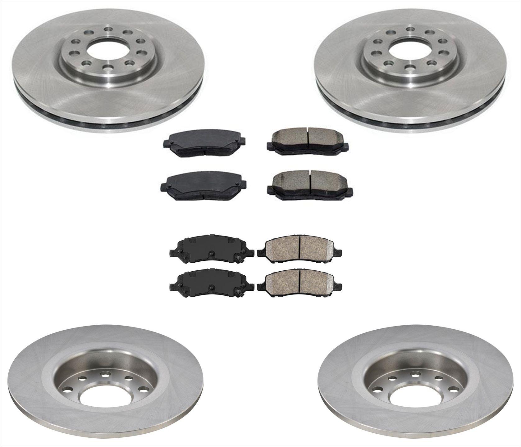 2 FRONT Brake Rotors /& Ceramic Pads 100/% All New for Mazda CX-9 07-15