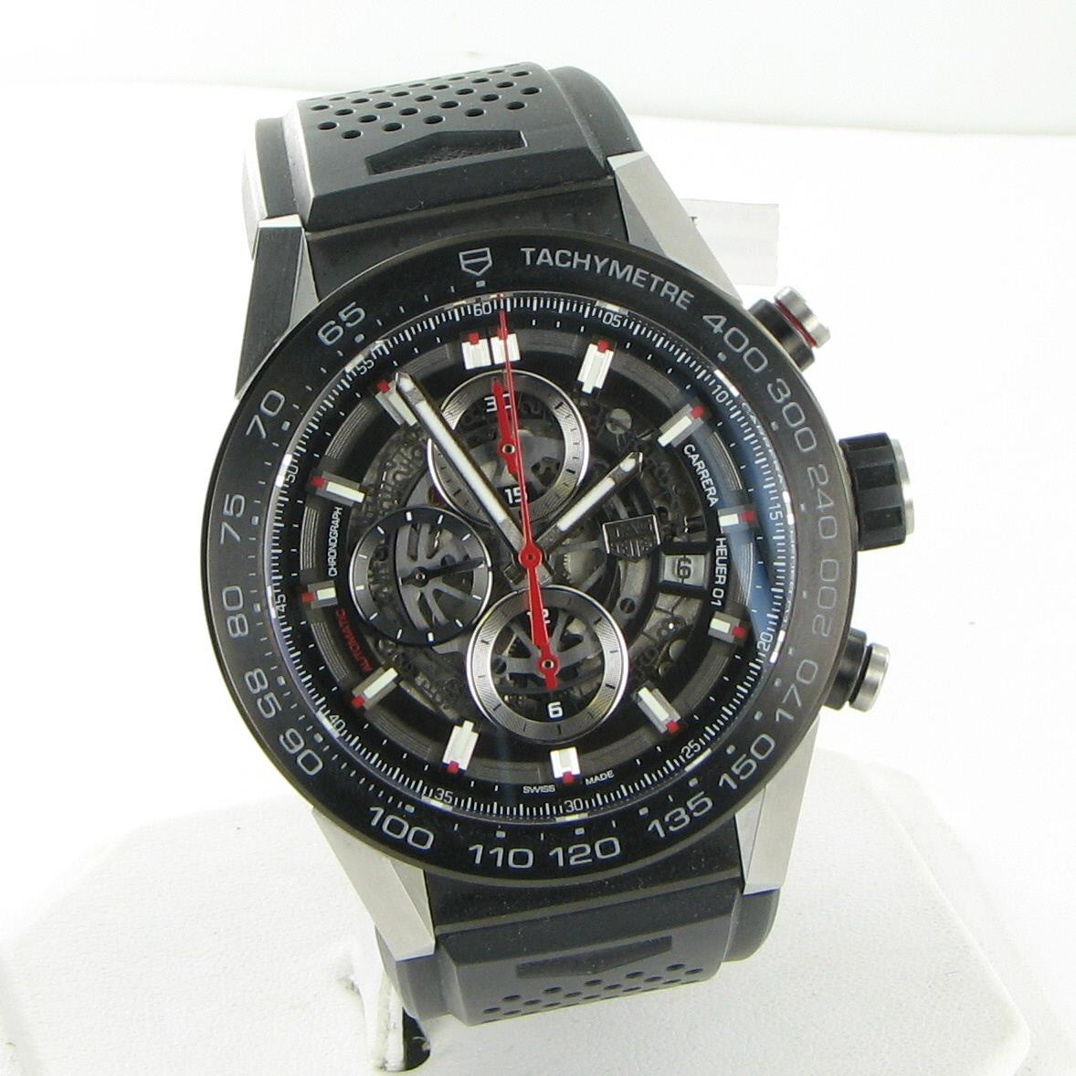 Details About New Tag Heuer Car2a1z Ft6044 Carrera Calibre 01 Automatic Skeleton 45mm Watch