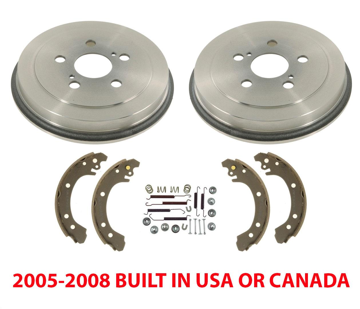 Both Left and Right 2012 For Toyota Corolla Rear Drum Brake Shoes Set Stirling with 2 Years Manufacturer Warranty