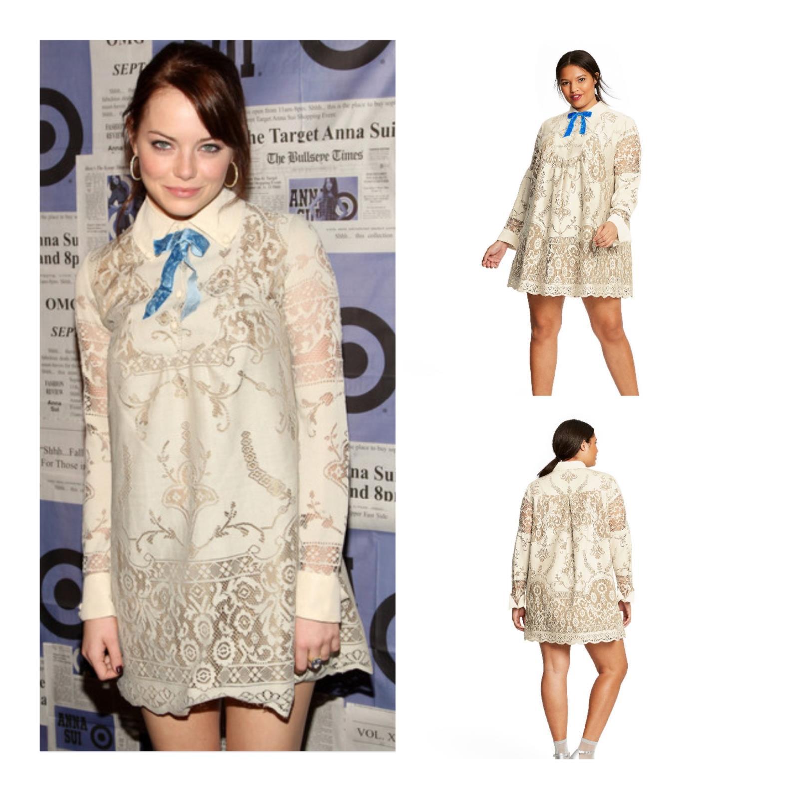 Anna Sui X Target Dress Lace Shift Mini