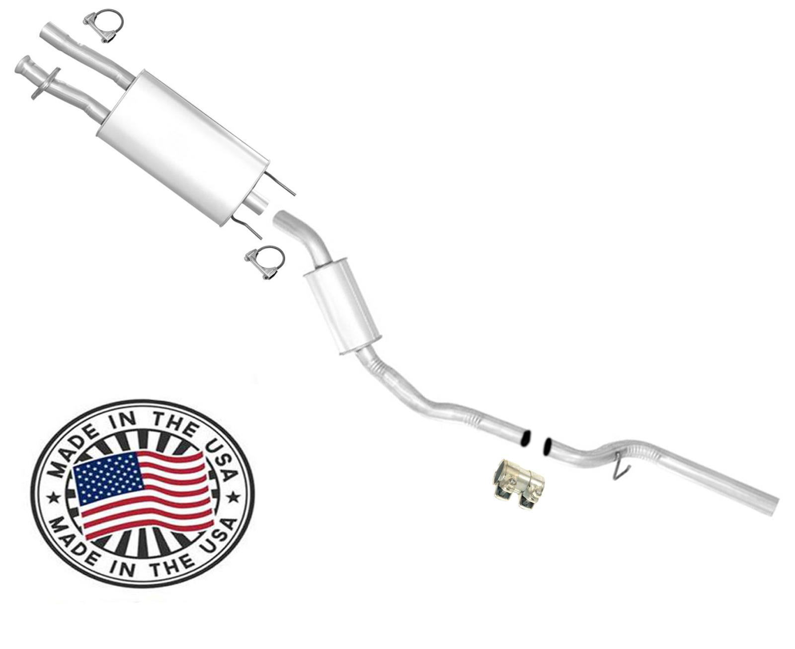 fits 1991-1992 Explorer 4.0L 4Door Resonator Muffler Pipe Exhaust System Kit