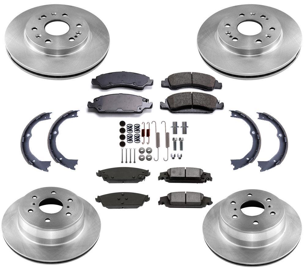 Brake Disc Rotors Ceramic Pads Parking Shoes 6 Stud For