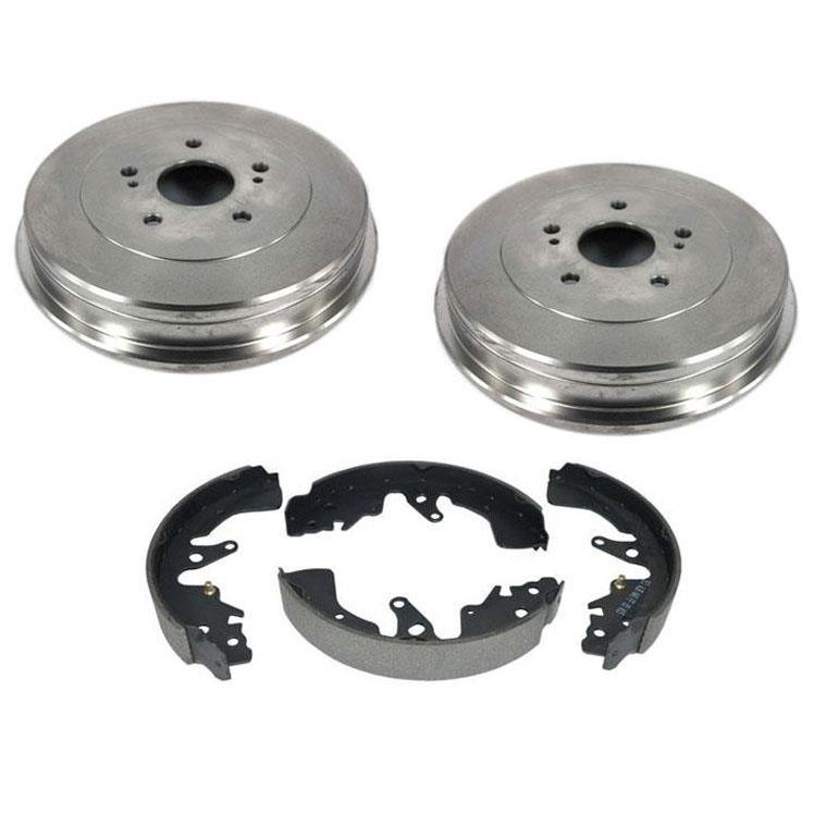 Rear Brake Drums With Shoes 3pc