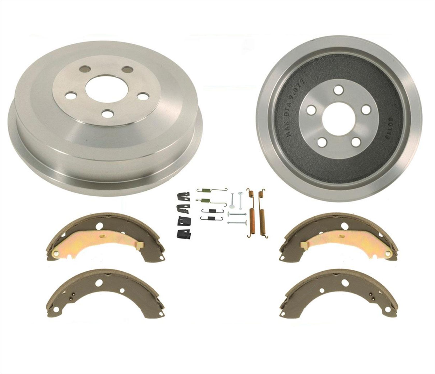REAR KIT Premium OE Replacement Brake Drums AND Shoes