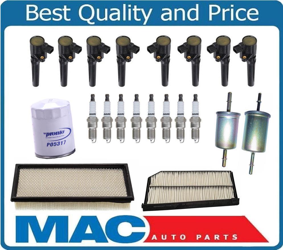 AP Ignition Coils Platinum Spark Plugs Air /& Cabin Filters VW Jetta 2.5L 06-13