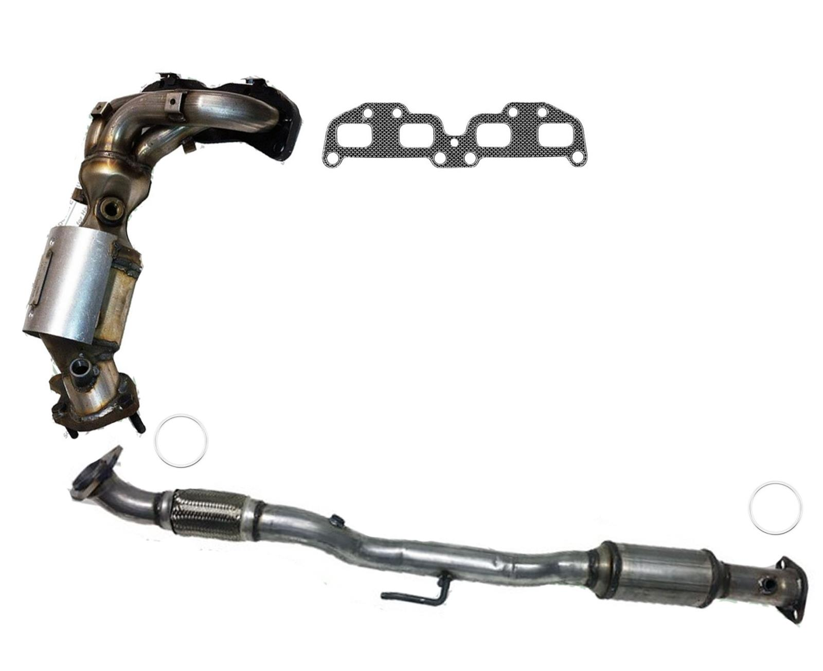 Front Manifold /& Rear Under Car Catalytic Converter Fits 07-12 Altima 2.5L
