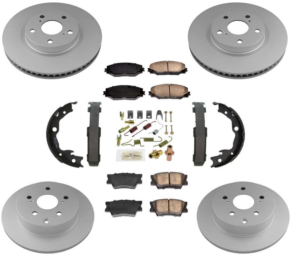 Fits 06-12 Rav 4 Frt Brake Rotors /& Ceramic Pads 4 Cly Made In Japan W//O 3Rd Row