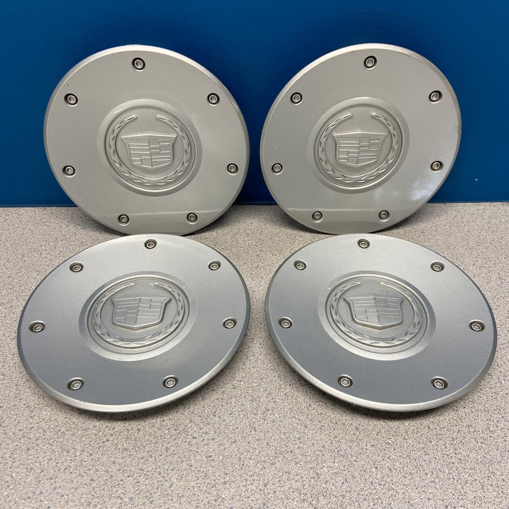 "2003-2004 Cadillac CTS # 4567 Silver Center Caps 16"" 7"