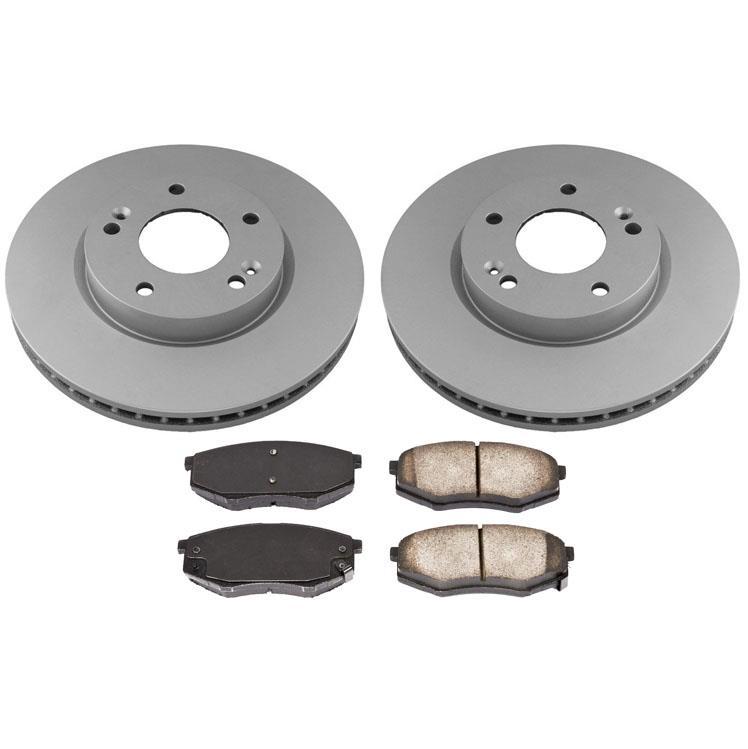 Rotors Ceramic Pads R 2011 2012 2013 Fit Kia Sportage AWD OE Replacement