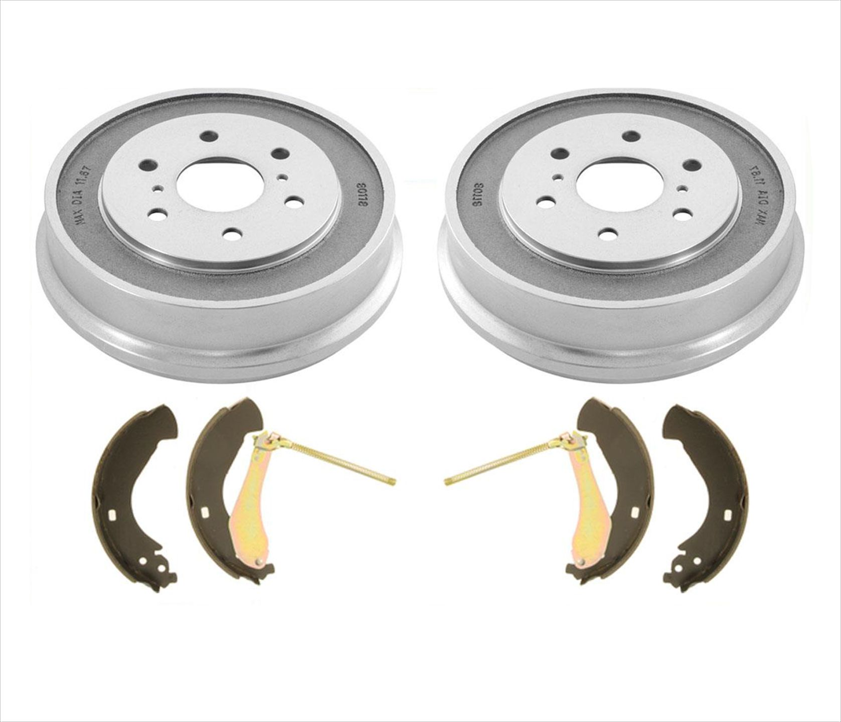 2013 For Toyota Corolla Rear Drum Brake Shoes Set with 2 Years Manufacturer Warranty Both Left and Right