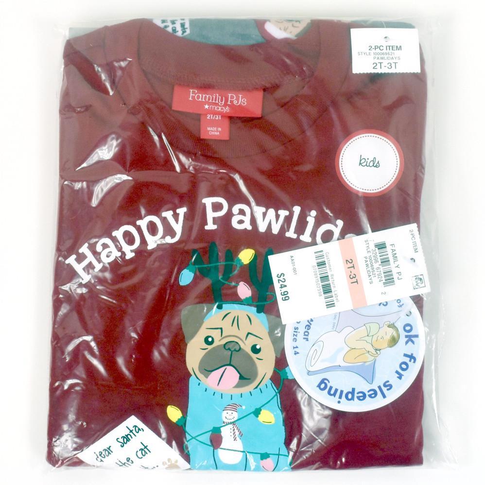 2 Piece Happy Paw-lidays Unisex Baby Clothing Set