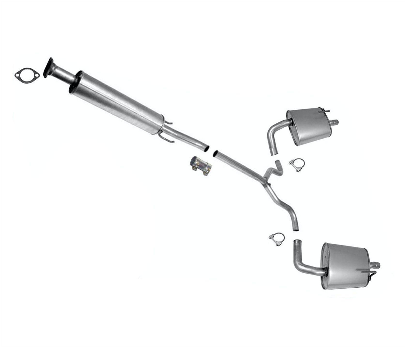 Exhaust System Resonator & Muffler For Nissan Altima 2010